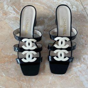 Chanel Double Logo Heels